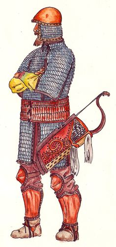 Scythian heavily armoured elite/noble mounted warrior. ~ Pretty much all Scythians fought mounted and hired mercenary infantry, when needed.