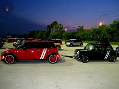 It's Towin Tuesday MINI IN THE DARK time folks and it's a perfect MINI Towin Mini combo from our friends Over The Pond!