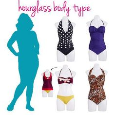 Have an hourglass figure? Here's how to pick the right bathing suit for your shape.