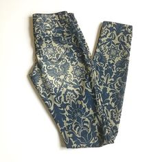 New denim printed pants Brand new never worn jeggings. Super comfy. Size 1 regular fits like 0. Bought it at macys Jeans