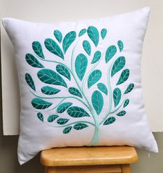 Teal Peacock Pillow Cover Throw Pillow Cover 18 x 18 por KainKain, $25.00
