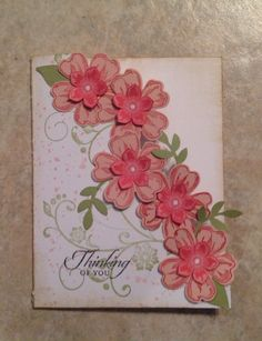 Petite Petals and Flower Shop with punches. Quick card