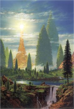 Lamp Of The Valar - Ted Nasmith