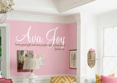 A wall decal for the nursery