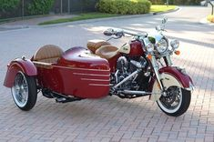 2014 Indian Chief Motorcycle & 2014 Champion Legend Sidecar in Indian dress