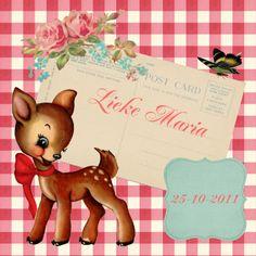 Geboortekaartjes - Scrap geboortekaartje Lieke Maria