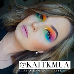 Pride makeup look using the Morphe palette ❤️ Rainbow eye makeup looks. - Pride makeup look using the Morphe palette ❤️ Rainbow eye makeup looks. Rainbow Eye Makeup, Rainbow Eyes, Colorful Eye Makeup, Makeup For Green Eyes, Blue Eye Makeup, Smokey Eye Makeup, Palette Morphe, Eye Palette, Make Up Palette