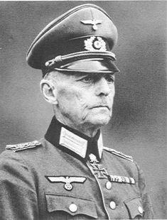 World War II: Field Marshal Gerd von Rundstedt Military Men, Military History, Military Officer, Luftwaffe, Field Marshal, Army Infantry, The Third Reich, German Army, World War Two