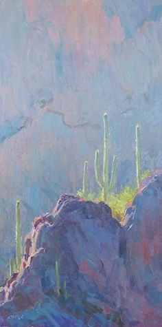Higher Ground by Bill Cramer Oil ~ 24 x 12