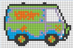 Charts for Geek Vehicles Pixel Art Templates, Perler Bead Templates, Diy Perler Beads, Pearler Bead Patterns, Perler Bead Art, Perler Patterns, Pearler Beads, Cross Stitching, Cross Stitch Embroidery