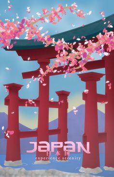 Japan travel poster - www.vacationsmadeeasy.com