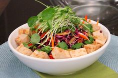 low fat asian slaw with tofu