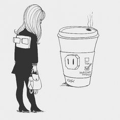 happy friday, everyone. anyone else feeling this today? last work day of 2016 for me. for whatever reason that makes fridaying really hard today. Coffee Is Life, Coffee Love, Coffee Quotes, Coffee Humor, Coffee Puns, Coffee Icon, Cafe Art, Coffee Drawing, Cartoon Drawings