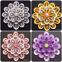 Paper Quilling Patterns, Quilling Flowers, Quilling Designs, Paper Flowers Diy, Quilling Art, Quilling Ideas, Quiling Paper, Quilling Techniques, Paper Crafts