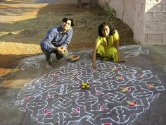 Rangoli Designs With Dots!!