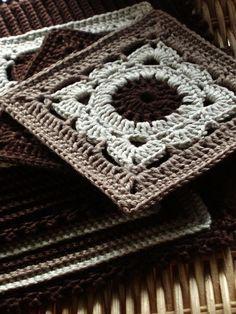 Pretty granny square. No pattern