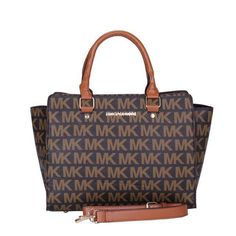 #Michael Kors Outlet Michael Kors Selma Logo Signature Large Coffee Totes $69.99 !Save Big,Buy Now!!!
