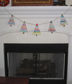 SELVAGE Christmas Tree Garland NEW for 2013 by carolinasquirrell, $18.00