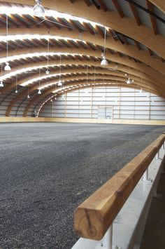 42m clear span in wood, typically only steel can be used to go this wide. Australia.