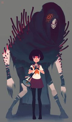 character art Alexis Rives is a young French artist just starting out in the video game business. Art And Illustration, Character Illustration, Character Design References, Character Art, Character Types, Character Ideas, Animation, Arte Obscura, Monster Design