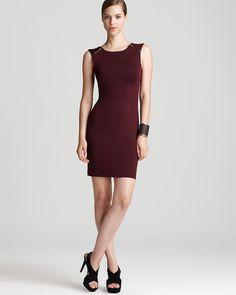 Aqua Ponte Dress - Zipper - Dresses - Apparel - Women's - Bloomingdale's