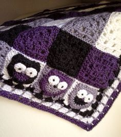 Crochet Granny Square Plaid Baby Blanket for Stroller and Car Seat