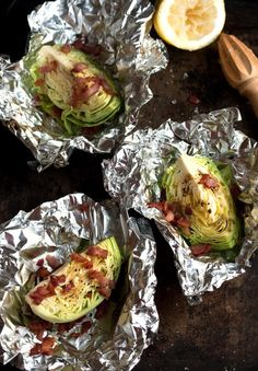 easy roasted cabbage wedges with crispy bacon | Drizzle and Dip Use soy sub and gf Worcestershire sauce