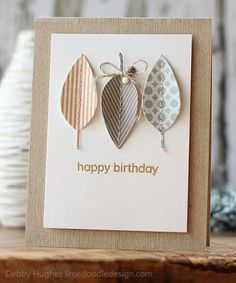 DIY Card patterned leaves