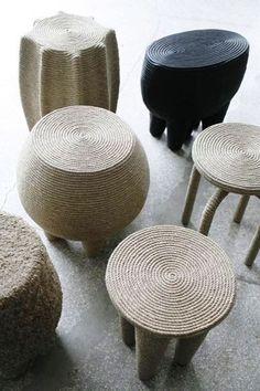 CHRISTIAN ASTUGUEVIEILLE, ropes stools