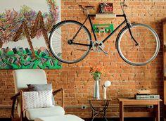 Bicicleta dentro de casa