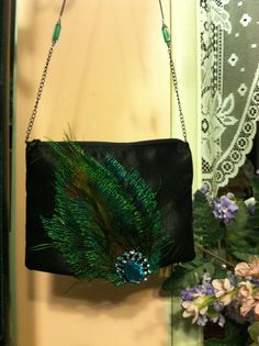 cute bag,Jenny sewed for  Granny(with a detachable broach)