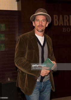Ethan Hawke signs copies of his new book 'Rules for a Knight' at Barnes & Noble at The Grove on November 17, 2015 in Los Angeles, California.