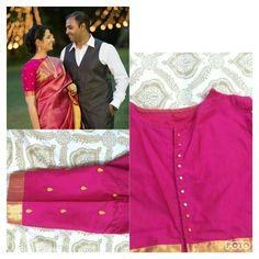 #boatneckblouse #weddingreception #kanchipuramsilksaree