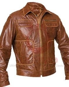 Boston Vintage Men's Geniune Leather Jacket  Leather is a classical material and is mainly used in jacket making, leather jackets are in high demand among all fashion lovers. Boston Vintage Distressed Brown Men's Leather Jacket is the fresh stylish jacket included in the list of highly demande
