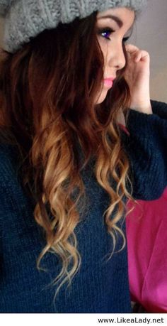 I really need this girls hair. The way its curled and colored is just perfect!!!