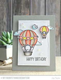 Hot Air Balloon Rubber Stamp By DRS Designs
