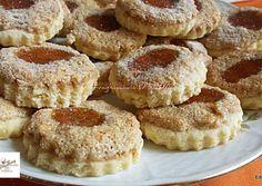 Dióhabos lekváros linzer | Edit56 receptje - Cookpad receptek Winter Food, Cake Cookies, Doughnut, Cookie Recipes, Fudge, Biscuits, French Toast, Sweet Tooth, Cheesecake