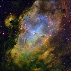 """Nebulosa da Águia. """"Constelação Serpens""""."""