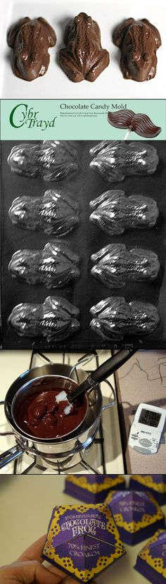 "How to Make ""Harry Potter"" Chocolate Frogs Harry Potter recruitment <3"