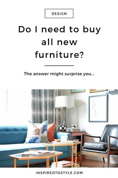 Can I share with you one of the biggest myths people have about design projects?It's the assumption that you need to get rid of ALL of your old furniture and start with a blank slate. Dining Decor, Dining Room Design, Living Room Decor, Bedroom Decor, Interior Design Photography, Design Guidelines, Decorating Ideas, Decor Ideas, New Furniture