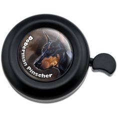 Black Doberman Pinscher Dog Pet Bicycle Handlebar Bike Bell