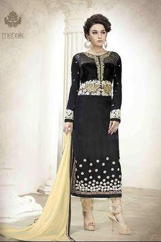 Mehak black and gold 2 in 1 lehenga and trouser style dress in just £54.99 #Shopnow #fashion #Blackdress #loveit #IndianDesignerWear #AnarkaliSuitsUK