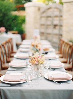 A sweet & simple tablescape.