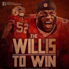 Patrick Willis. Will to win