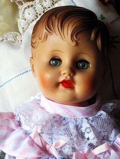 Old vintage baby doll