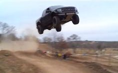 Ford F-150 SVT Raptor Jump in air Photo on February 4, 2013