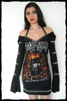 Belphegor Hoodie Mini Dress - Death Metal Dress