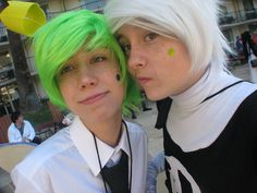 Cosmo from The Fairly Oddparents and Danny from Danny Phantom.