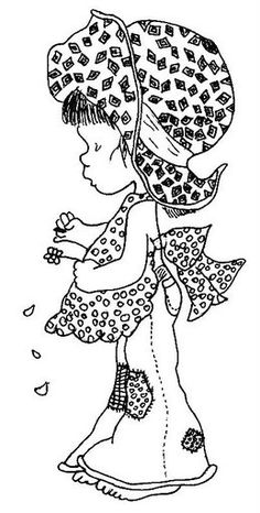 Girl with chicken - Saray Kay | Coloring pages | Pinterest | Sarah ...