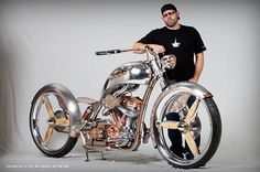 This beautiful bike by Paul, Jr. beat-out entries from Jesse James & Paul, Sr. to win the 2011 Discovery Channel Biker Build-off